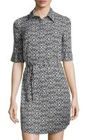 Laundry By Shelli Segal Printed Short-sleeve Shirtdress - Lyst