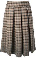 Erika Cavallini Semi Couture Patterned Pleated Midi Skirt - Lyst