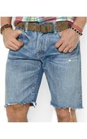 Polo Ralph Lauren Polo Indigodyed Denim Cutoff Shorts - Lyst