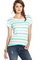 American Rag Striped Tee - Lyst