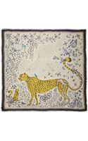 Emma J Shipley Cheetah Printed Modal and Silk-blend Scarf - Lyst