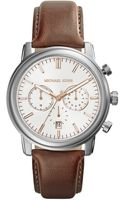 Michael Kors Midsize Tan Leather Pennant Chronograph Watch - Lyst