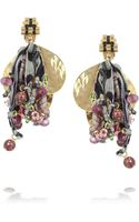 Etro Va Goldplated Tourmaline and Silk Clip Earrings - Lyst
