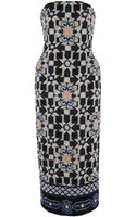 Temperley London Merida Tile Strapless Dress - Lyst