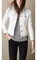 Burberry Fitted Powerstretch Denim Jacket - Lyst