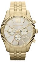 Michael Kors Mens Chronograph Lexington Goldtone Stainless Steel Bracelet 45mm - Lyst