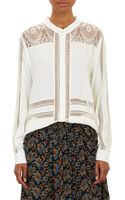 Sea Lace Combo Blouse - Lyst