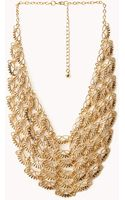 Forever 21 Classic Pointed Bib Necklace - Lyst