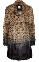 Each X Other Leopard Print Ombré Goat Hair Coat - Lyst