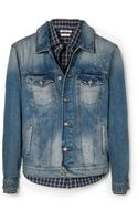 Mango Vintage Wash Denim Jacket - Lyst