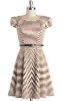 ModCloth Over and Underline Dress in Brown - Lyst