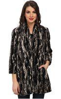 Karen Kane Marble Faux Fur Coat - Lyst