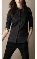 Burberry Stretch Cotton Shirt - Lyst