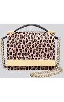 B Brian Atwood Crossbody Ava Leopard Print Haircalf Top Handle - Lyst
