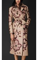 Burberry Handpainted Deerskin Trench Coat - Lyst