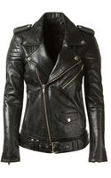 BLK DNM Black Leather Biker Jacket - Lyst