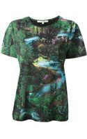 Carven Woodland Print Tshirt - Lyst