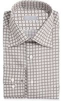Stefano Ricci Smallfloralcheck Dress Shirt - Lyst