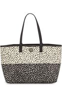 Tory Burch Kerrington Twotone Printed Shopper Tote Bag Dotted Pony - Lyst