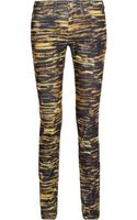 Etoile Isabel Marant Iti Tiger-print Corduroy Mid-rise Skinny Jeans - Lyst