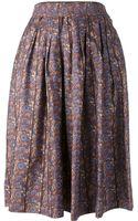 Yves Saint Laurent Vintage Volume Skirt - Lyst