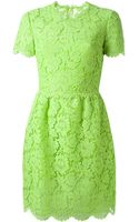Valentino Floral Crochet Dress - Lyst