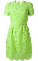 Valentino Floral Crochet Dress - Lyst