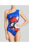Gottex Mandarin One Shoulder One Piece Swimsuit - Lyst
