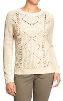 Old Navy Cable Knit Sweater - Lyst