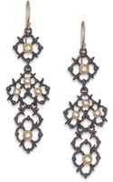 Alexis Bittar Elements Muse Dore Crystal Two-tone Lace Drop Earrings - Lyst