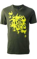 McQ by Alexander McQueen Swallow Logo Printed Tshirt - Lyst