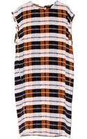 By Malene Birger Tabita Plaid Dress - Lyst