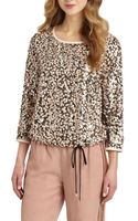 Diane Von Furstenberg Kavita Sheer-back Sequin Top - Lyst
