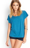 Forever 21 Boxy Open Knit Tee - Lyst