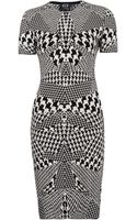 McQ by Alexander McQueen  Houndstooth Dress - Lyst