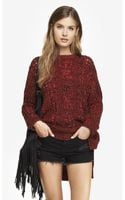 Express Marled Open Stitch Tunic Sweater - Lyst