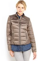 Vince Camuto Packable Down Mandarin Collar Jacket - Lyst