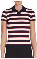 Valentino Striped Polo Shirt - Lyst