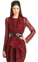 Oscar de la Renta Guipure Lace Evening Jacket - Lyst