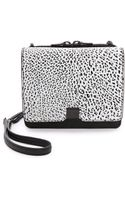 Loeffler Randall Embossed Walker Mini Bag Blackwhite - Lyst