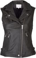 Iro Leather Moto Vest - Lyst