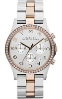 Marc By Marc Jacobs Ladies Henry Crystallized Twotone Chronograph Watch - Lyst