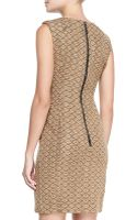 Nanette Lepore Looking Glass Leathershoulder Sheath Dress - Lyst