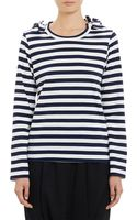 Comme Des Garçons Striped Bow Shoulder Top - Lyst