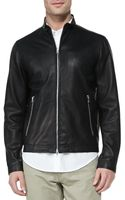 Theory Morvek L Leather Moto Jacket - Lyst