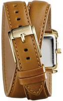 Michael Kors Mini Emery Doublewrap Leather Watch - Lyst