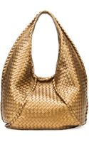 Bottega Veneta Cervo Large Metallic Hobo Bag Bronze - Lyst