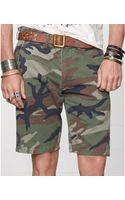 Denim & Supply Ralph Lauren Slimfit Military Camouflage Chino Shorts - Lyst