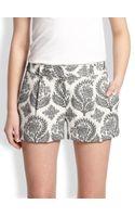 Diane Von Furstenberg Naples Floralpatterned Crepe Shorts - Lyst
