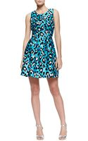 Michael Kors Printed Bell Dress - Lyst